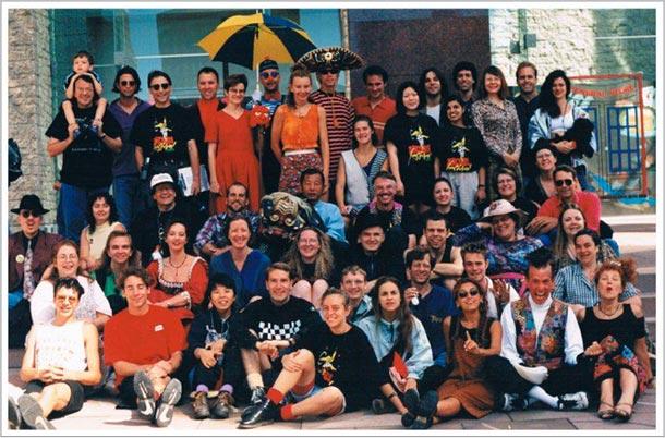 Cast of the 1997 Edmonton International Street Performers Festival