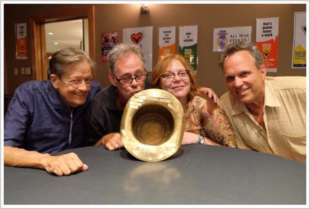 Dick Finkel, 2014 Winner for the Golden Finkel, Alan Plotkin, Shelley Switzer and Dana Smith with the Golden Finkel